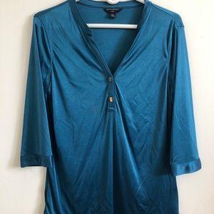 Banana republic blue blouse